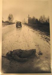 Solider in the Road, Smolensk Front, 10 Minutes from Moscow, from The Great Patriotic War, Vol. I