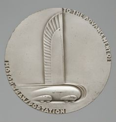 Silver medal commemorating the 25th Anniversary of General Motors