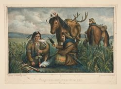 Trading on the Plains. The Indian in Doubt