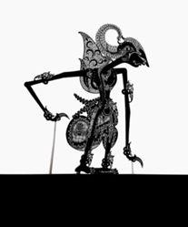 Shadow Puppet (Wayang Kulit) of Arjuno Sosro, from the consecrated set Kyai Nugroho