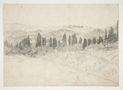 Roman(?) landscape as seen from balcony (recto); Seascape (verso)