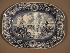 Platter with view of Gettysburg, Pickett's Charge