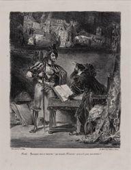 Méphistophélès apparaissant à Faust (Mephistopheles Appearing to Faust), from Johann Wolfgang von Goethe's Faust