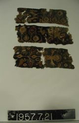 Three (3) fragments of Coptic textile