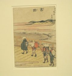 Yoshida Station,  from the series Designs of the Fifty-three Stations of the Tokaido