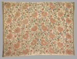 Panel of cotton cloth, embroidered
