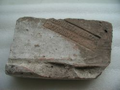 Inscribed brick