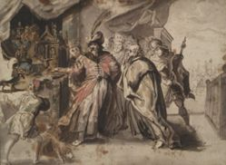 Croesus Showing His Riches to Solon
