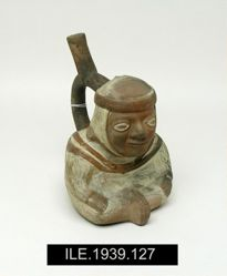 Stirrup Vessel in the Shape of a Seated Figure