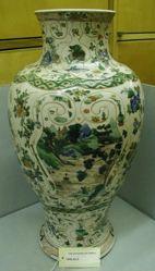Five Color Baluster-Shaped Vase