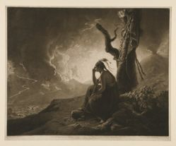 The Widow of an Indian Chief Watching the Arms of Her Deceased Husband
