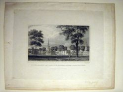 New Haven, Connecticut, View Looking Southwest, Across the Green, Towards Yale College