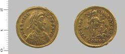 Solidus of Arcadius, Emperor of the Eastern Roman Empire from Milan