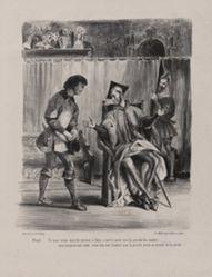 Méphistophélès recevant l'écolier (Mephistopheles Receiving the Student), from Johann Wolfgang von Goethe's Faust