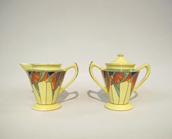 """Royalite"" Sugar Bowl and Creamer"