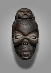 Mask Representing a Diseased Face