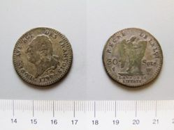 Silver 30 Sols of Louis XVI of France