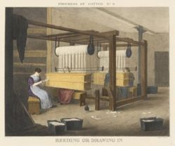 Progress of Cotton: #9 - Reeding or drawing in