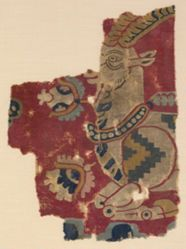 Textile Fragment with an Ibex