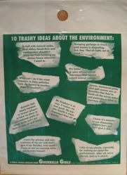 10 trashy ideas about the environment, from the Guerrilla Girls' Compleat 1985-2008