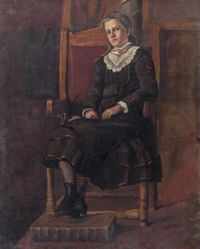 Young Girl Seated in a Chair