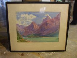 Mountainous Landscape with Lake