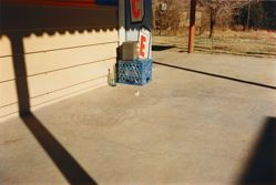 Untitled (Bottle on Cement Porch); from the series Los Alamos