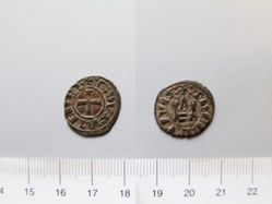 Billon denier of William or Guy I de la Roche from Athens