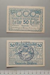 50 Heller from Abekberg, redeemable Dec. 12, 1920, Notgeld