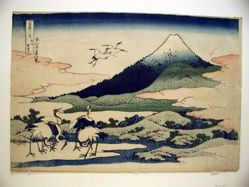 Umezawa Manor in Sagami Province, from the series Thirty-six Views of Mount Fuji