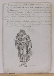 Standing Woman Holding a Child in Her Arms (recto); Female Nude (verso)