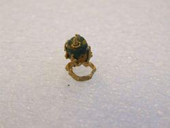 Blue Bead Bird Ring