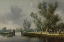 River Landscape with Travellers