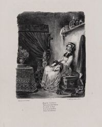 Marguerite au rouet (Marguerite at the Spinning Wheel), from Johann Wolfgang von Goethe's Faust