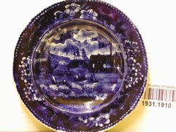 "Cup Plate, ""Landing of Gen. Lafayette at Castle Garden, New York, 16th August, 1824"""