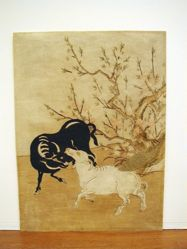 Black Ox and White Goat in Spring