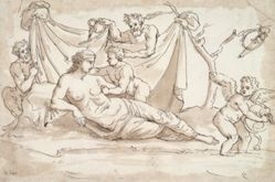 Venus and Amoretti and Two Satyrs