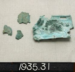 Fragment of a copper alloy scale cuirass