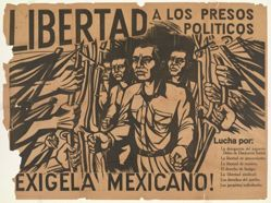 Libertad a los presos políticos...Exígela mexicano! (Freedom for the Political Prisoners ... Demand it, Mexican!)