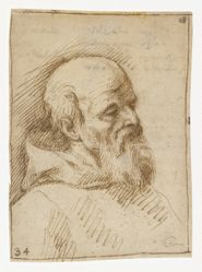 Portrait of a bearded man, possibly a monk