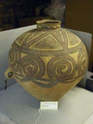 Banshan style red pottery jar