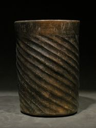 Maya wide mouth cylinder vase