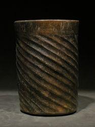 Maya wide mouth cylinder vase