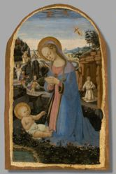 The Adoration of the Christ Child with Saint Francis of Assisi Receiving the Stigmata; Tobias and the Angel; Saint John the Baptist in the Wilderness; and the Penitent Saint Jerome
