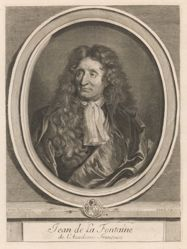 Gérard Edelinck, Jean de La Fontaine, from the book Les hommes illustres . . . , vol. I, by Charles Perrault