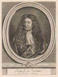 Jean de La Fontaine, from Perrault's Les hommes illustres