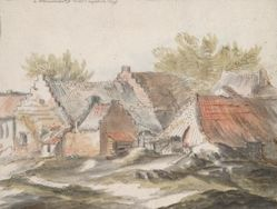 Cottages (recto); Wicker Implements (verso)