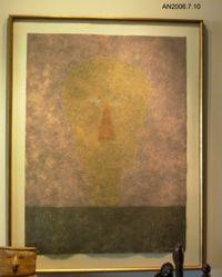 Cabeza Sobre Fondo Rosa (Head on Pink Background) from the series Rufino Tamayo 8 Aguafuertes 1984