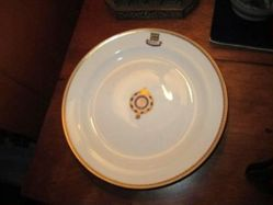 Dessert plate with Hollenzollern Yacht flag