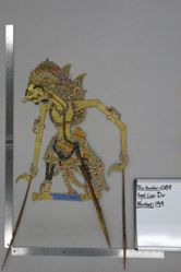 Shadow Puppet (Wayang Kulit) of Donopati or Donorojo, from the set Kyai Drajat